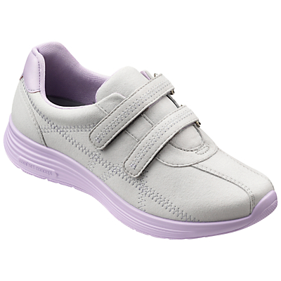 Hotter Astrid Double Strap Trainers, Dove Grey