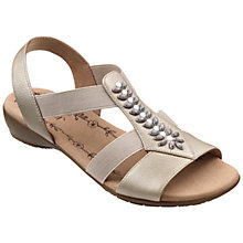 Buy Hotter Montserrat Embellished Sandals, Champagne Online at johnlewis.com