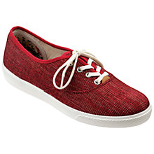 Buy Hotter Mabel Lace Up Plimsolls, Red Sparkle Online at johnlewis.com
