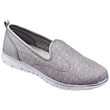 Buy Hotter Cloud Slip On Trainers, Pebble Grey Online at johnlewis.com