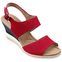 Buy Hotter Breeze Double Strap Wedge Heeled Sandals Online at johnlewis.com