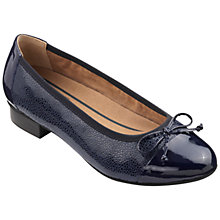 Buy Hotter Trinity Court Shoes, Navy Pebble Online at johnlewis.com