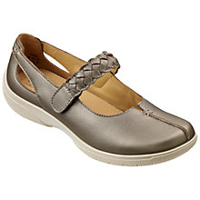 Buy Hotter Shake Adjustable Strap Leather Shoes, Pale Bronze Online at johnlewis.com