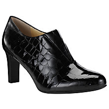Buy Peter Kaiser Hanara Block Heeled Court Shoes, Patent Black Croc Online at johnlewis.com