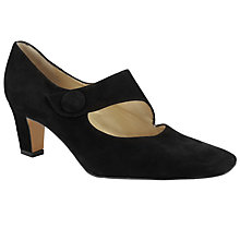 Buy Peter Kaiser Olga Button Strap Court Shoes, Black Online at johnlewis.com