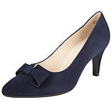 Buy Peter Kaiser Valona Bow Pointed Toe Court Shoes, Navy Online at johnlewis.com