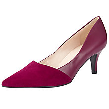 Buy Peter Kaiser Semitara Pointed Toe Stiletto Court Shoes, Magenta Online at johnlewis.com