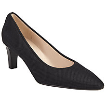 Buy Peter Kaiser Merana Block Heeled Court Shoes, Black Online at johnlewis.com