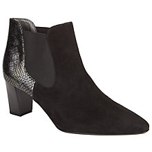 Buy Peter Kaiser Magda Block Heeled Ankle Boots, Black Online at johnlewis.com