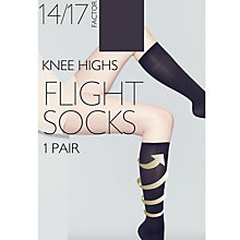 Buy John Lewis Flight Knee High Socks, Pack of 1, Black Online at johnlewis.com