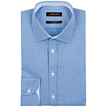 Buy Jaeger Spot Jacquard Modern Shirt, Blue Online at johnlewis.com