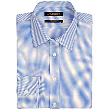 Buy Jaeger Houndstooth Modern Fit Shirt, Blue Online at johnlewis.com