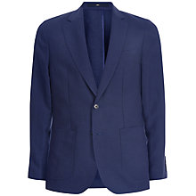 Buy Jaeger Silk Linen Classic Fit Suit Jacket, Blue Online at johnlewis.com