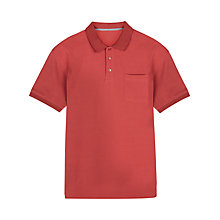 Buy Jaeger Supima Cotton Polo Shirt, Anemone Red Online at johnlewis.com