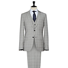 Buy Reiss Quayle Check Three Piece Suit, Grey Online at johnlewis.com