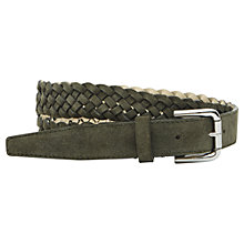 Buy Reiss Giro Suede Plaited Belt Online at johnlewis.com