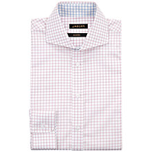 Buy Jaeger Windowpane Modern Shirt, Pink Online at johnlewis.com