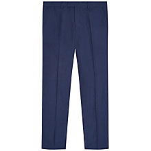 Buy Jaeger Silk Linen Classic Fit Suit Trousers, Blue Online at johnlewis.com