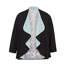 Buy Chesca Border Floral Jersey Shrug, Black Online at johnlewis.com