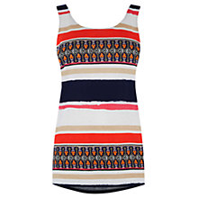 Buy Warehouse Latina Striped Print Vest, Multi Online at johnlewis.com
