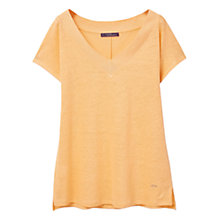 Buy Violeta by Mango Linen T-shirt, Orange Online at johnlewis.com