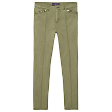 Buy Violeta by Mango Zip Straight Trousers, Medium Green Online at johnlewis.com