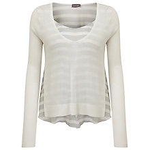 Buy Phase Eight Alondra Stripe Jumper, White/Grey Online at johnlewis.com