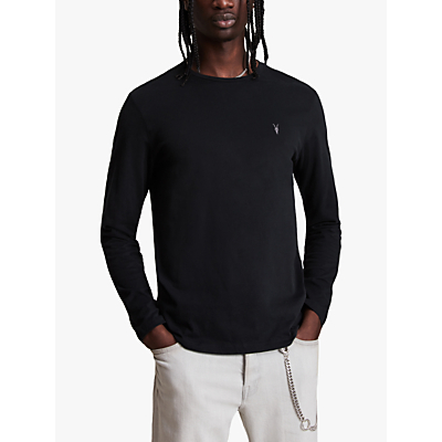Image of AllSaints Brace Long Sleeve T-Shirt, Jet Black
