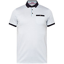 Buy Ted Baker Poptop Spotted Polo Shirt, Charcoal Online at johnlewis.com