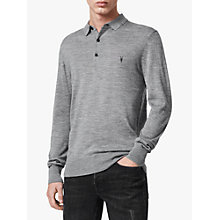 Buy AllSaints Mode Long Sleeve Knitted Top, Grey Marl Online at johnlewis.com