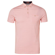 Buy Ted Baker Rustoo Geo Print Polo Shirt, Coral Online at johnlewis.com