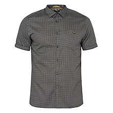 Buy Ted Baker Trini Geo Print Shirt, Black Online at johnlewis.com