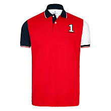 Buy Hackett London Large Number Polo Shirt, Red/Blue Online at johnlewis.com