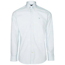 Buy Hackett London Long Sleeve Check Shirt, Green/White Online at johnlewis.com