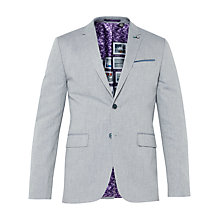 Buy Ted Baker Popping Linen Herringbone Suit Jacket, Blue Online at johnlewis.com