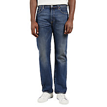 Buy Levi's 501 Original Fit Jeans, Mid Wash Online at johnlewis.com