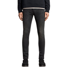 Buy AllSaints Print Cigarette Skinny Jeans, Jet Black Online at johnlewis.com