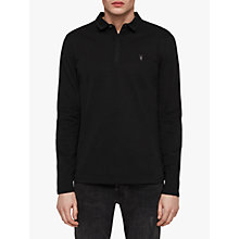 Buy AllSaints Brace Long Sleeve Polo Shirt, Black Online at johnlewis.com