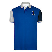 Buy Hackett London Number Polo Shirt, Cobalt Online at johnlewis.com