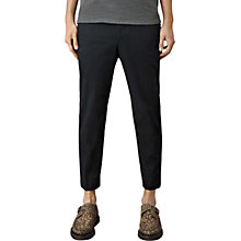 Buy AllSaints Corban Tapered Trousers, Black Online at johnlewis.com