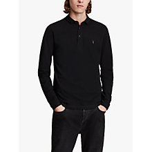 Buy AllSaints Reform Long Sleeve Polo Shirt Online at johnlewis.com