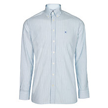 Buy Hackett London Long Sleeve Two Tone Shirt, Navy/Blue Online at johnlewis.com