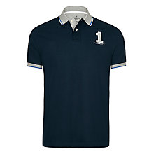 Buy Hackett London Large Number New Classic Polo Shirt, Navy Online at johnlewis.com