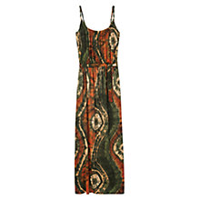 Buy Violeta by Mango Printed Gown, Dark Orange Online at johnlewis.com