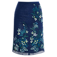Buy Karen Millen Coated Embellished Skirt, Blue/Multi Online at johnlewis.com