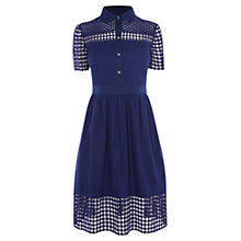 Buy Karen Millen Clean Cotton Dress, Blue Online at johnlewis.com
