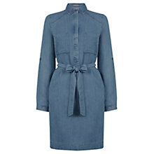 Buy Oasis Bella Shirt Dress, Denim Online at johnlewis.com