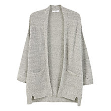 Buy Mango Cotton-Blend Cardigan, Medium Grey Online at johnlewis.com