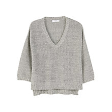 Buy Mango Cotton Sweater, Medium Grey Online at johnlewis.com