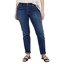 Buy Violeta by Mango Straight Theresa Jeans, Open Blue Online at johnlewis.com
